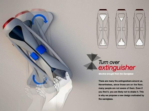 Turnover Extinguisher, огнетушитель в виде песочных часов