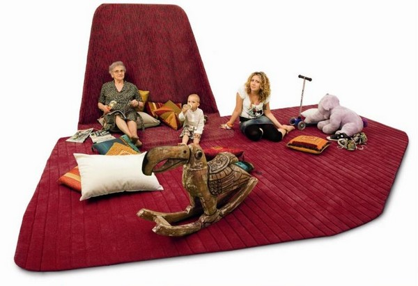 Sail Carpet, шерстяной ковер *под парусом* ручной работы