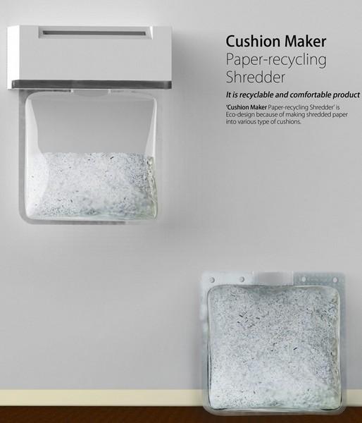 Cushion Maker, шредер, превращающий бумажное конфетти в декоративные подушечки