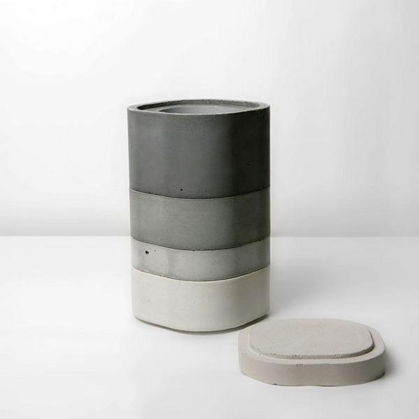 Konkurito vases, модульная бетонная ваза от японского дизайнера