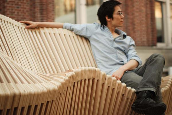 Kinetic Double-Sided Bench - инновационная скамья от нью-йоркских дизайнеров