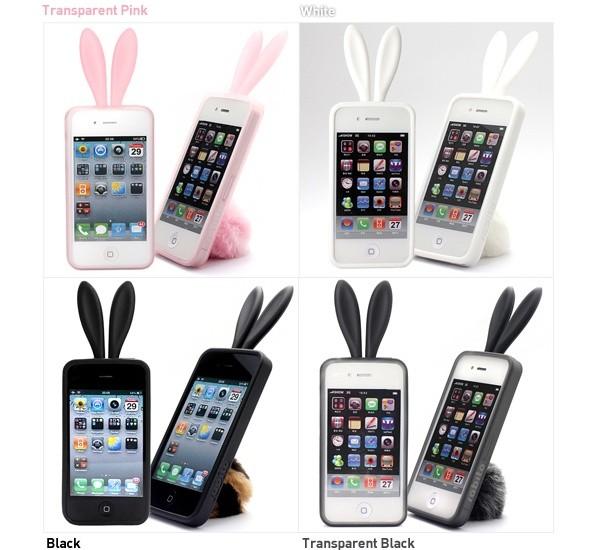 Rabito, оригинальный чехол-кролик для iPhone. Пушистый хвостик прилагается