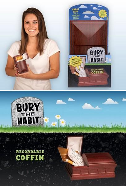 Борьба с вредными привычками при помощи гаджета Bury the Habit Recordable Coffin