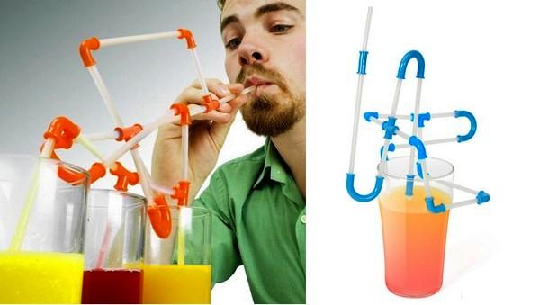 Мега-трубочка для напитков, проект Strawz от NuOp Design