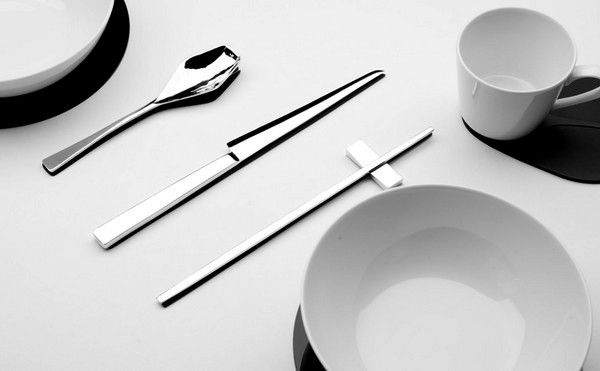 Trace of Shadow, комплект необычной посуды с осязаемыми тенями