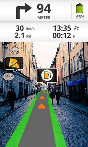 GPS с проекцией на местность