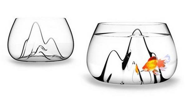 Fishscape Fishbowl, необычный аквариум для рыбки-альпинистки