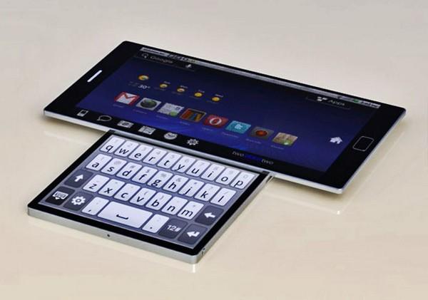 Сенсорный слайдер с двумя экранами