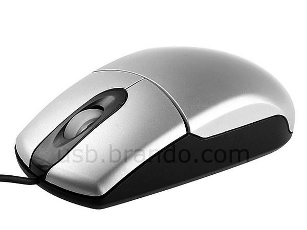 Мышка с маленькими электронными весами, встроенными в корпус