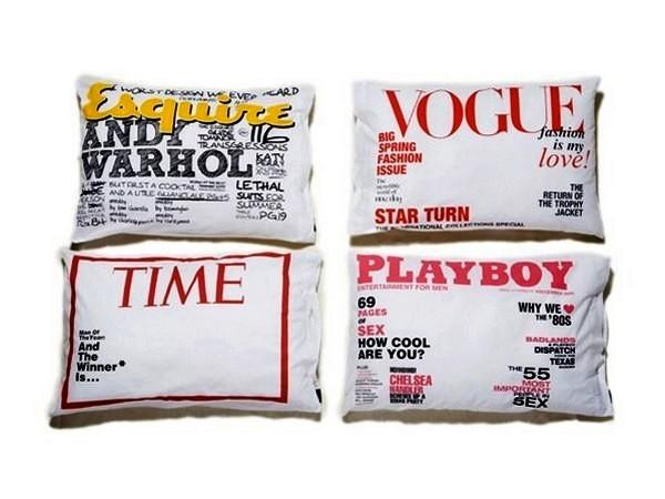Постельное белье, которое сделает тебя знаменитым. Наволочки-обложки Magazine Cover Pillowcase