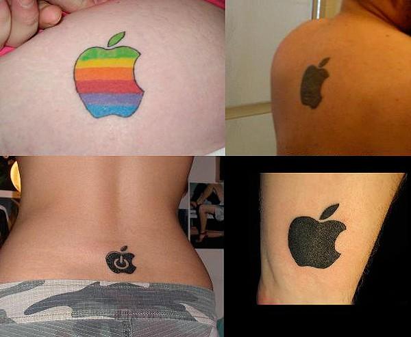 Татуировки в виде легендарного логотипа Apple