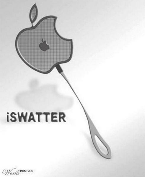 iSwatter, хлопушка для мух в форма Apple logo