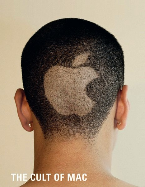 iСтрижка в виде логотипа Apple