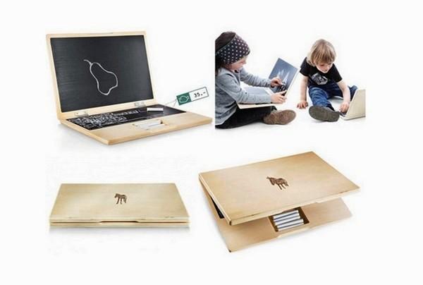i-Wood, детский деревянный ноутбук от компании Rasselfisch