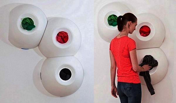 Креативные шкафчики для грязного белья