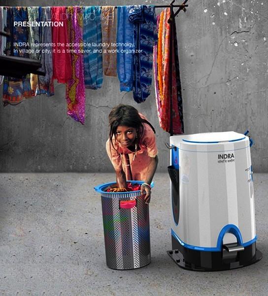 Indra, нежная и аккуратная стиральная машинка