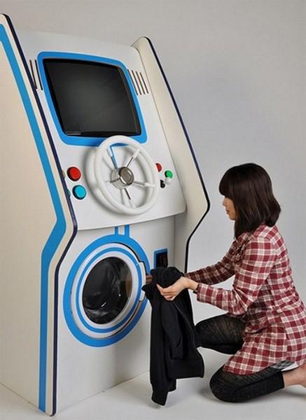 Laundry Arcade, стиральная машинка в виде игрового автомата