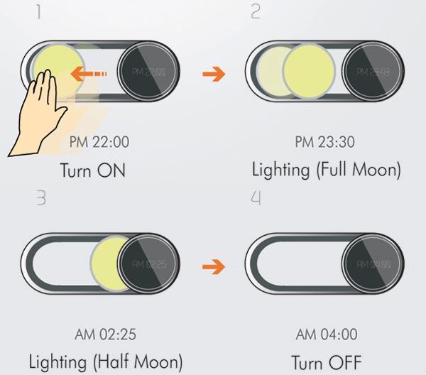 Настенные часы с фазами Луны Moonshine