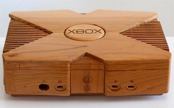 Деревянная консоль Xbox 360