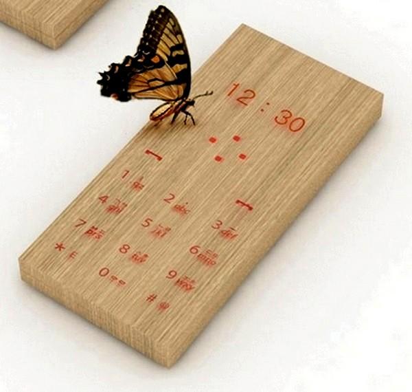 Maple, концептуальный телефон из дерева