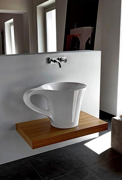 Умывальники для кофеманов. Керамический умывальник-чашка Cup от Artceram