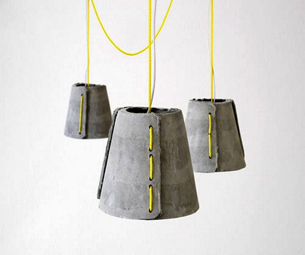 Cement Pendants, цементные абажуры ручной работы