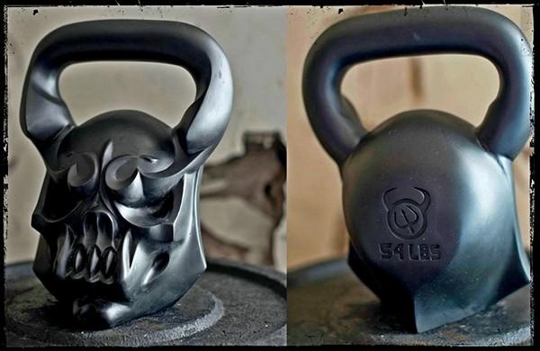 Уникальная гиря из серии Demon Bells. *Гибрид* весом в 24,5 кг