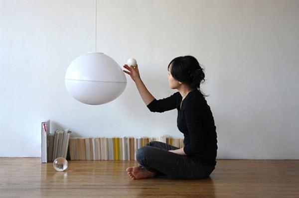 Fiat Lux Lamp, необычный дизайн светильника, который зажигается магнитным полем