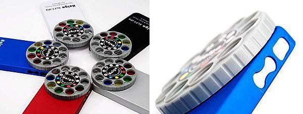 Вращающийся диск со встроенными фотофильтрами Holga iPhone Lens