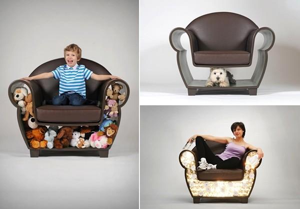 Hollow Chair, кресло с импровизированной полкой внутри. Проект от Judson Beaumont