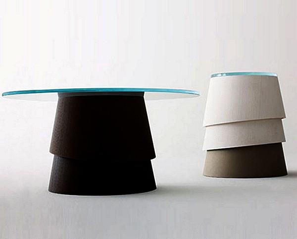 Table Layer, стильный и лаконичный журнальный стол на модульной ножке