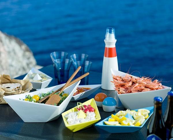 Набор *морской* посуды Paper Boat Tableware