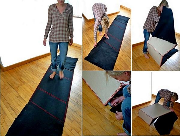 ConversationRug, складывающийся коврик, он же столик для двоих
