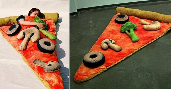 Спальный мешок Slice of Pizza в виде кусочка вегетарианской пиццы