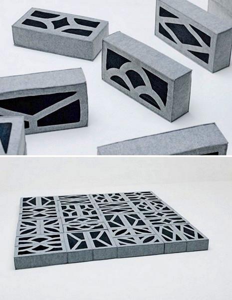 Мягкие кирпичи Soft Blocks, из которых строится мебель