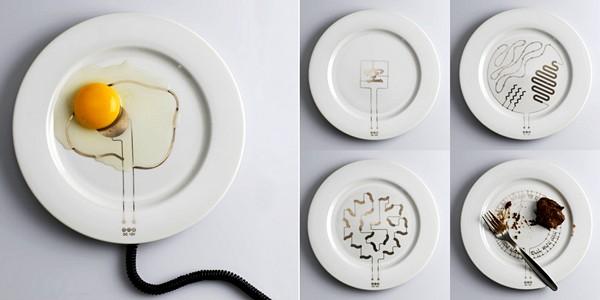 Тарелка с подогревом