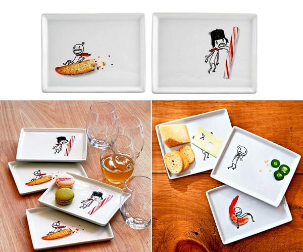 Тарелки с детскими рисунками