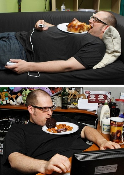 Тарелка для лентяев, которые едят лежа