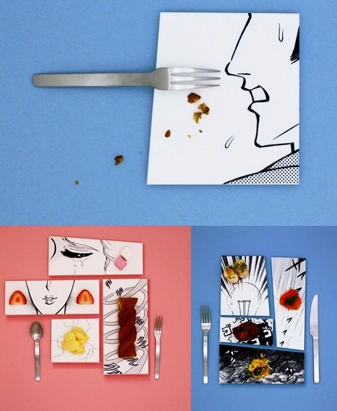 Тарелки с сюжетами манги
