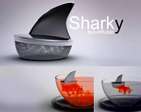 Акула в чашке. Заварник Sharky Tea Infuser