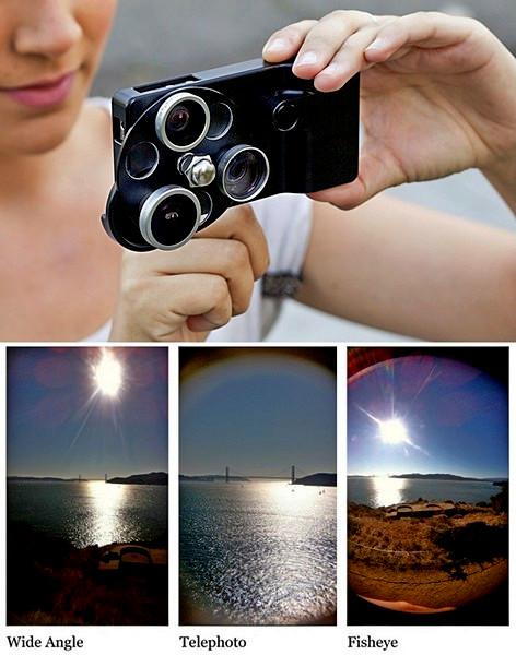 Набор линз для творческой фотографии. Чехол Lens Dial Case для iPhone