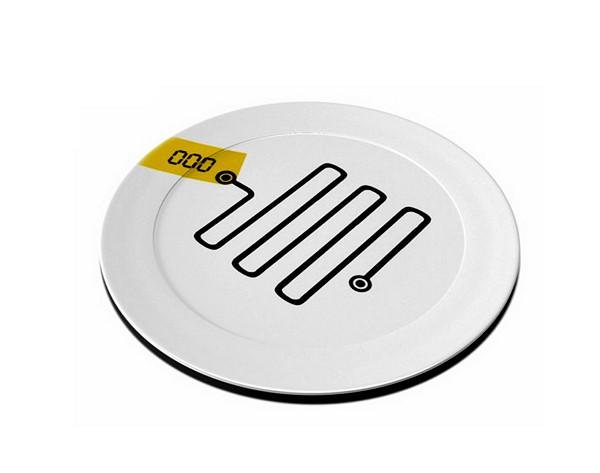 Orbital plate от Roni Paslah, концептуальная тарелка для взвешивания порций
