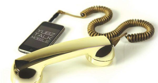 Gold Retro Handset – внешняя трубка для iPhone