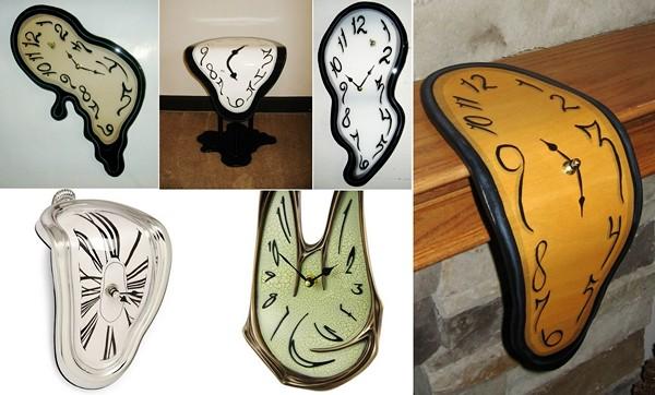 Melting Clock, часы по мотивам картины Дали The Persistence of Memory