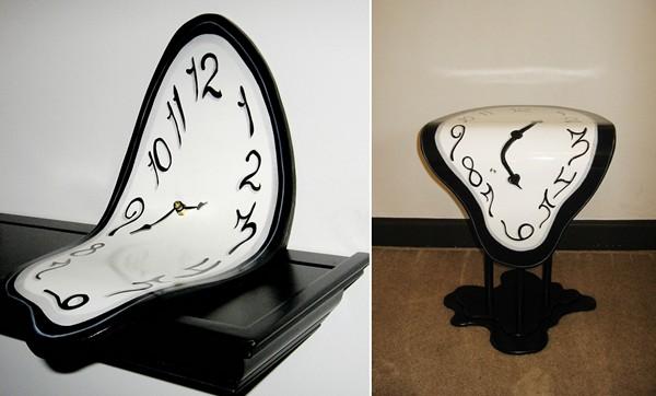 *Тающие* журнальные столики и часы Melting Clocks от Hilary Wiezbenski