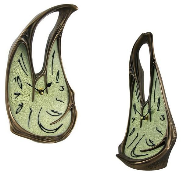 Напольные Melting Clock из металла, покрытого бронзой