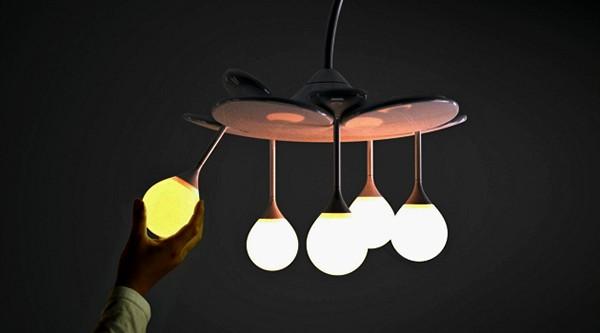 Необычный модульный светильник Drop Light