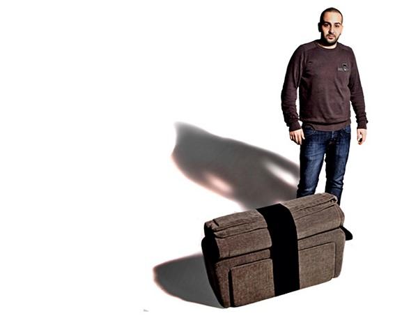 Nigiri pouf: многофункциональный раскладной пуфик от Elio Di Carlo