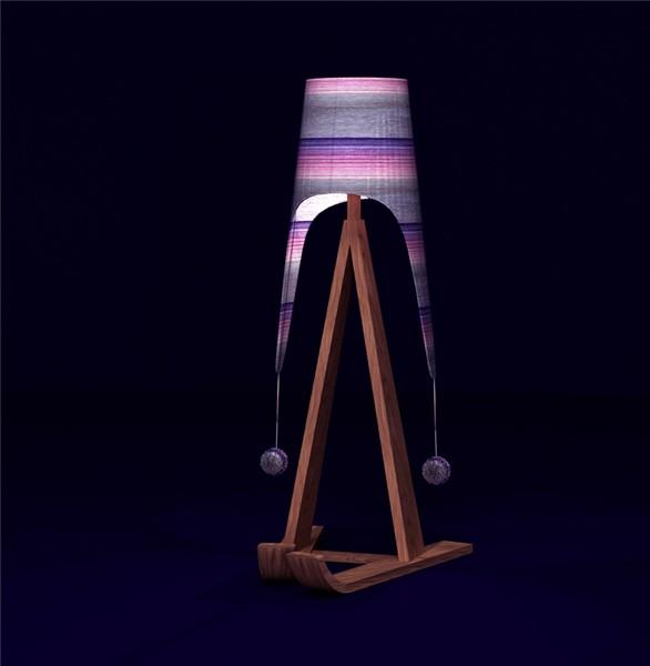 Креативный новогодний дизайн Олеси Смирновой. Торшер *Федор* (Fedor standard-lamp) в ушанке и лыжах