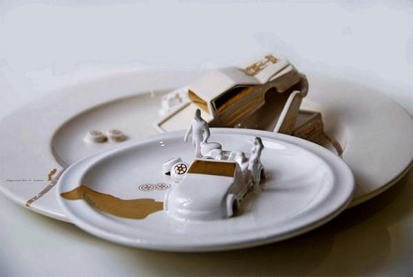 Креативная посуда Джудит Монтенс (Judith Montens), посвященная авариям на дороге